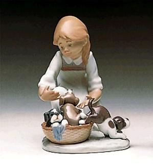 Lladro-Joy In A Basket 1989-97