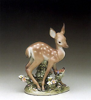 Lladro-Fawn And Friend 1990-96