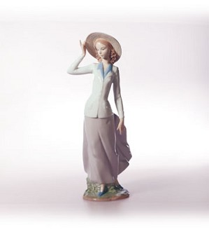 Retired Lladro-Breezy Afternoon