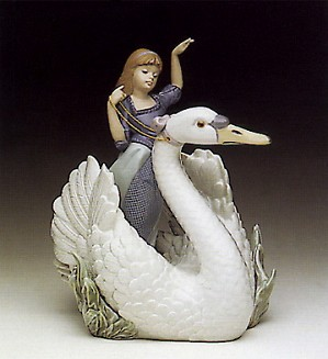 Lladro-Swan And The Princess 1990-94