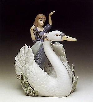 Lladro-Swan And The Princess 1990-94