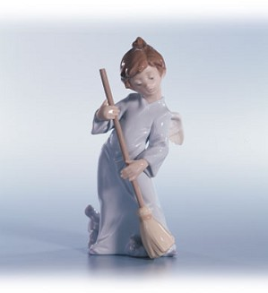 Lladro-Angel Sweep Away The Clouds 1990-02