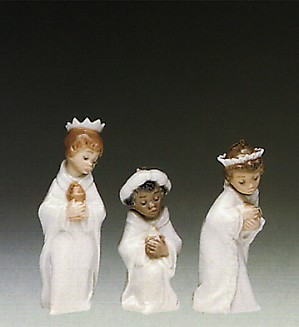 Lladro-Three Kings Ornaments 1990 Only