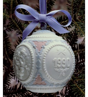 Lladro-Christmas Ball 1990 Ornament