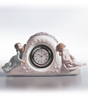 Lladro-Two Sisters Clock 1990-02