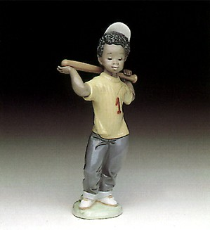 Lladro Black Legacy-Next At Bat