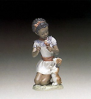 Lladro Black Legacy-Sharing Sweets