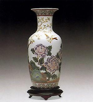 Lladro-Oriental Peonies Vase #1 Le300 1992-01
