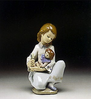 Lladro-Thoughful Caress 1993-96