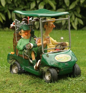 Guillermo Forchino-The Next Hole, Green 1/2 Scale Golf Cart