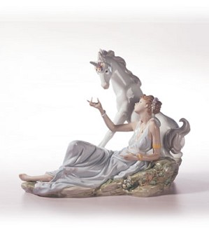 Retired Lladro-The Goddess & The Unicorn