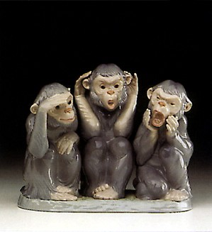 Lladro-Monkey Business 1993 Only