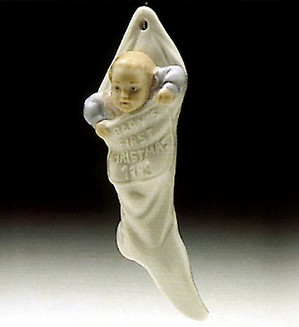 Lladro-Babys First Christmas 1993 Ornament
