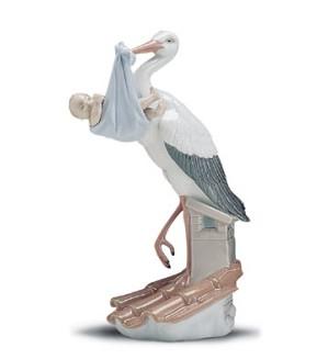 Lladro-Special Gift Stork (boy) 1995-01