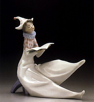 Lladro-Young Jester Singing 1995-97 ***