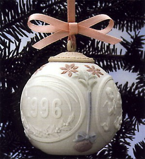 Lladro-Christmas Ball 1996 Ornament