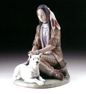 Retired Lladro-Indian Maiden