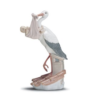 Lladro-New Arrival Stork (girl) 1997-01
