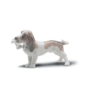 Lladro-Morning Delivery Dog 1997-2001