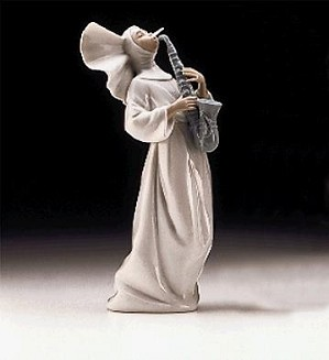 Lladro-Sister With Saxaphone Usa 1997-99