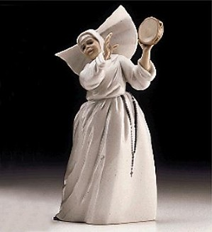 Lladro-Sister With Tambourine Usa 1997-99