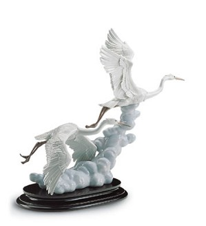 Lladro-Cranes In Flight 1997-01