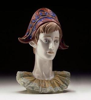 Lladro-Pensive Harlequins Head 1997-99 ***