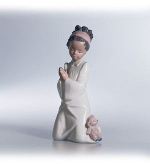 Lladro Black Legacy-Bedtime Prayers 1997-13