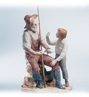 Lladro-A Fishing Lesson 00-02