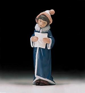 Lladro-A Christmas Caroler 1998-00