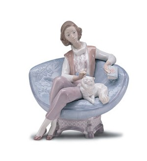 Retired Lladro-A Quiet Evening