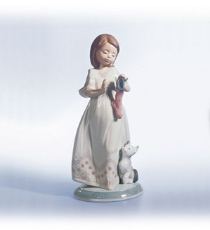 Lladro-A Stocking For Kitty