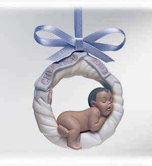 Lladro-Baby's First Christmas 2002 (black Legacy) Ornament