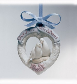 Lladro-Our First Christmas 2002 Ornament