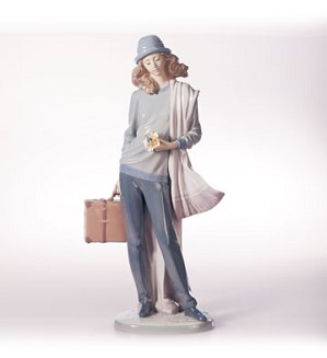 Retired Lladro-On My Way Home
