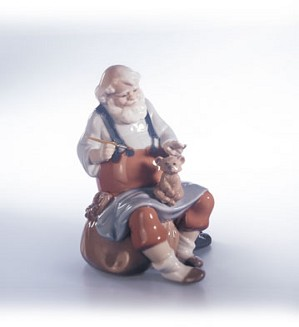 Retired Lladro-Santa's Magic Touch