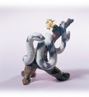 Lladro-The Snake 2001 Zodiac Figure