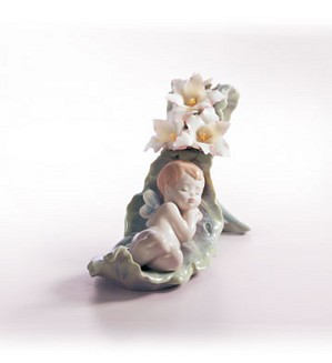 Retired Lladro-Dreaming On Dew Drops