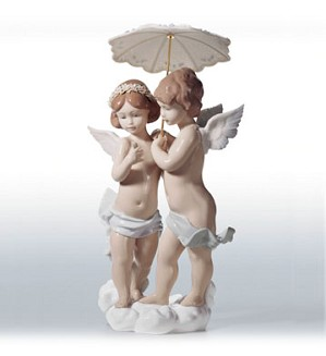 Retired Lladro-Waiting For A Rainbow (2000)