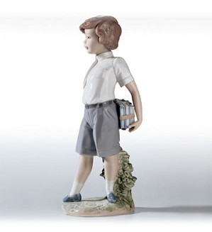 Lladro-Little School Boy
