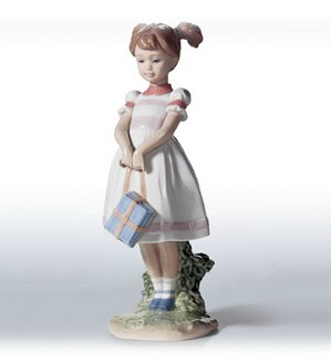 Lladro-Little School Girl