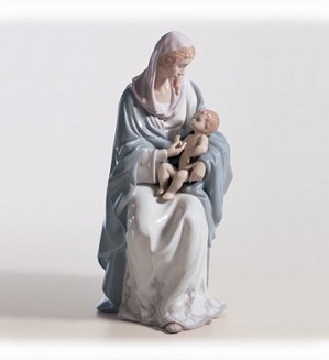 Retired Lladro-Mary And Baby Jesus
