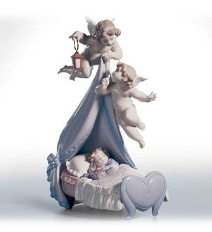 Retired Lladro-Sleep Well, Sweet Baby