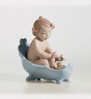 Retired Lladro-Let's Take A Bath!