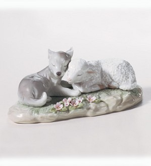 Lladro-The Wolf Also Shall Dwell With The Lamb 2003-07