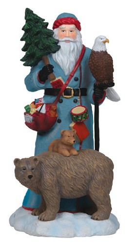 Pipka-Santa Bear And Eagle Figurine