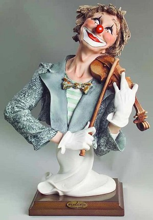 Giuseppe Armani-The Fiddler Clown - Ltd. Ed.  5000