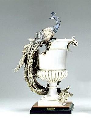Giuseppe Armani-Vase W/peacock - Ltd. Ed. 3000