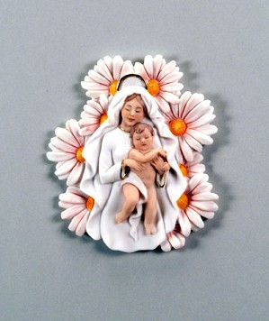 Giuseppe Armani-Madonna Of The Daisies - Plaque