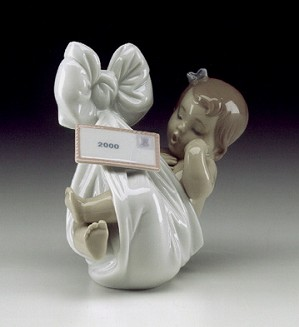 Retired Lladro-Heaven's Gift (girl-2000 Card)